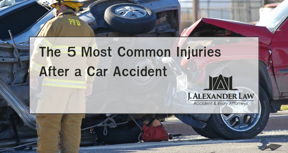 The 5 Most Common Injuries After a Car Accident - J. Alexander Law Firm - Personal Injury