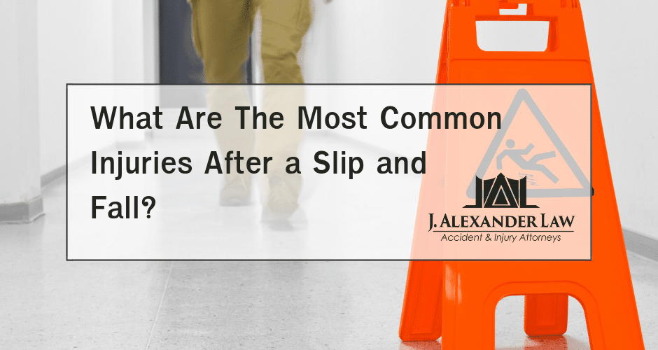 What Are The Most Common Injuries After a Slip and Fall? - J. Alexander Law Firm
