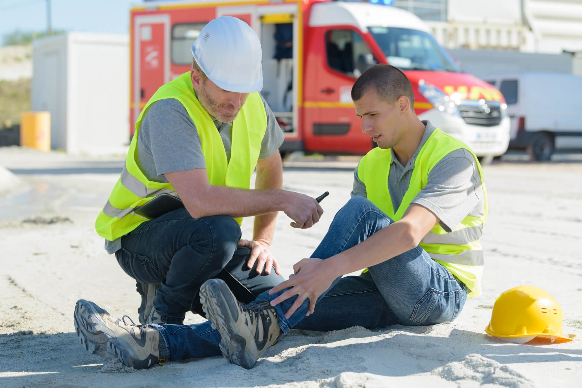 Construction Worker With Slip And Fall Injury Claim